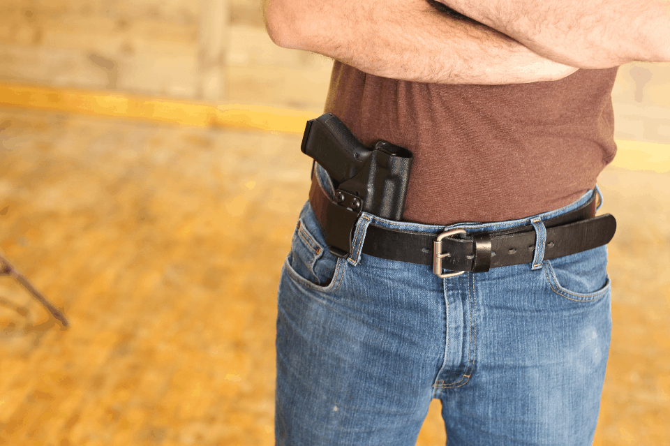 man conceal carrying pistol